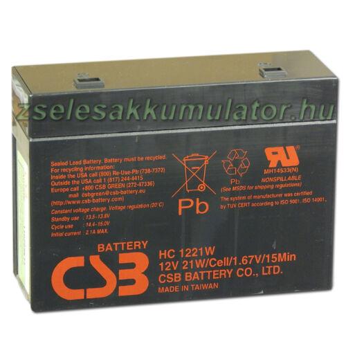CSB 12V 5,1Ah Zselés Akkumulátor HC 1221W F2