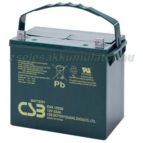 CSB 12V 52Ah Zselés Akkumulátor EVX12520