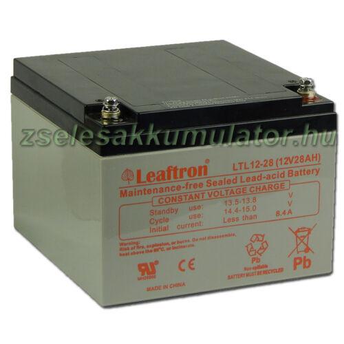 Leaftron 12V 28Ah Zselés akkumulátor LTL12-28