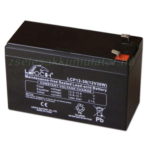 Leoch 12V 7Ah Zselés akkumulátor T2