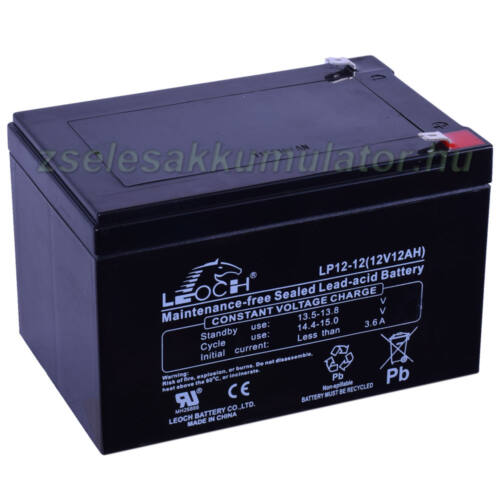 Leoch 12V 12Ah Zselés akkumulátor LP12-12