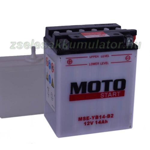 MotoStart YB14-B2 12V 14Ah Motor akkumulátor