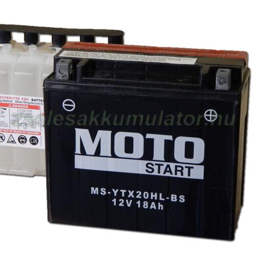 MotoSTART YTX20HL-BS 12V 18Ah gondozásmentes AGM (zselés) motor akkumulátor
