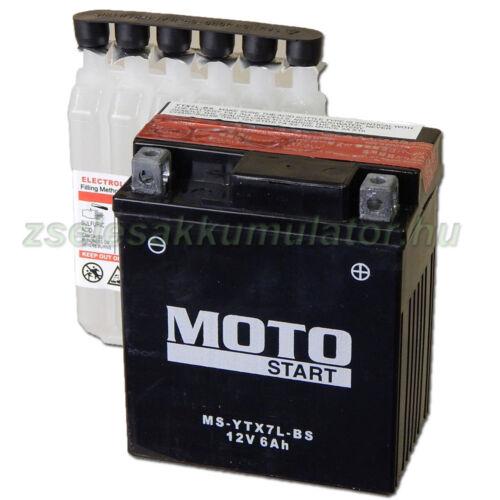 MotoSTART YTX7L-BS 12V 6Ah gondozásmentes AGM (zselés) motor akkumulátor