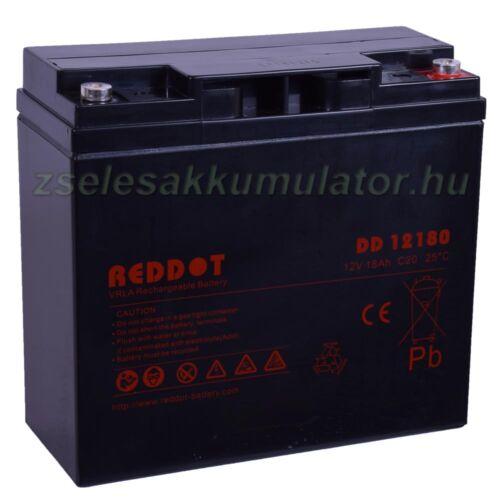 Reddot 12V 18Ah zselés akkumulátor zsákfuratos