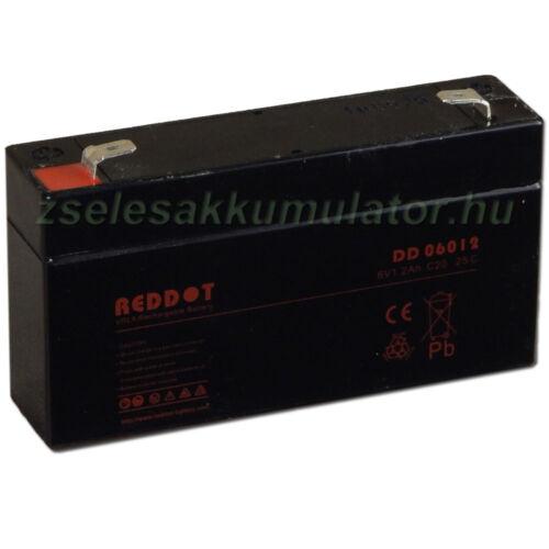 RedDot 6V 1,2Ah Zselés akkumulátor