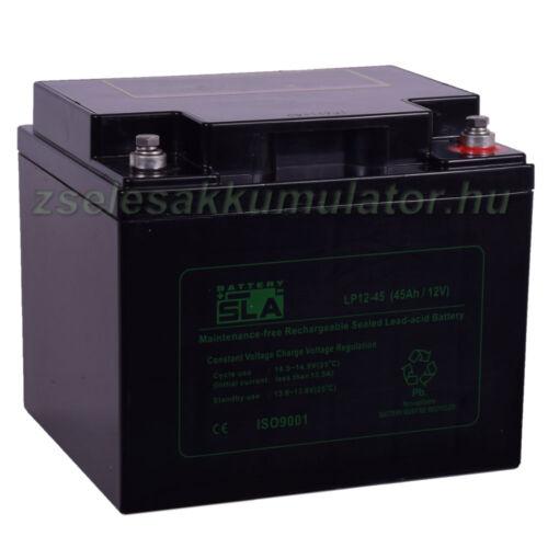 SLA 12V 45Ah Zselés akkumulátor LP12-45
