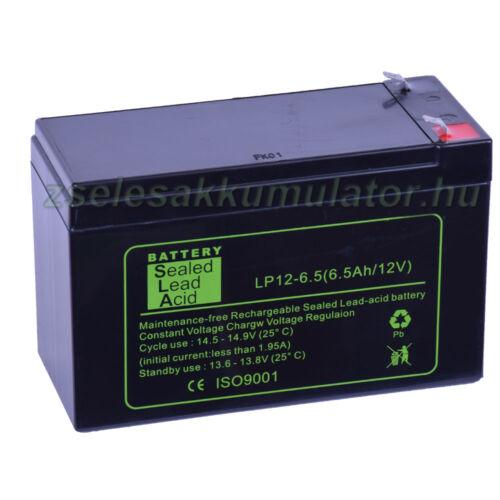 SLA 12V 6,5Ah Zselés akkumulátor