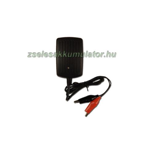 Zselés akkumulátor töltő 6V 0,8A töltőáram