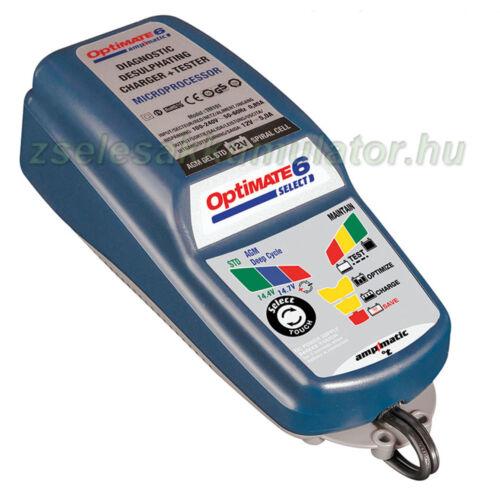 TecMate Optimate 6 select akkumulátor töltő
