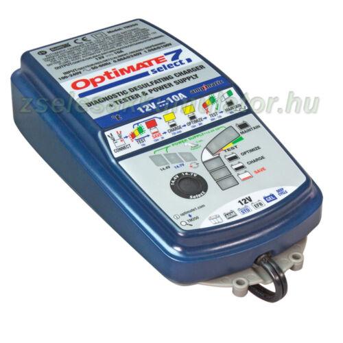 TecMate Optimate 7 select akkumulátor töltő