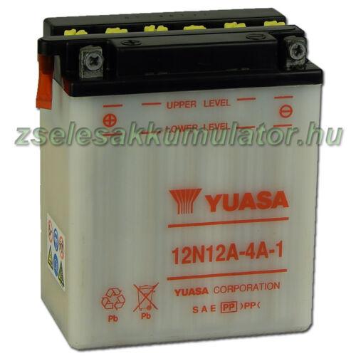 Yuasa 12N12A-4A-1 12V 12Ah Motor akkumulátor