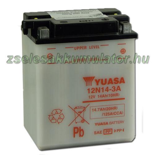 Yuasa 12N14-3A 12V 14Ah Motor akkumulátor sav nélkül