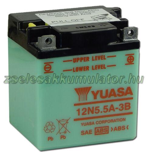 Yuasa12N5,5A-3B 12V 5,5Ah Motor akkumulátor