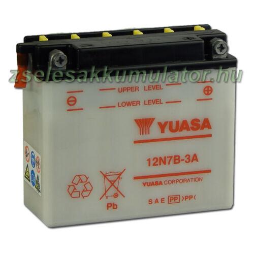 Yuasa12N7B-3A 12V 7Ah Motor akkumulátor