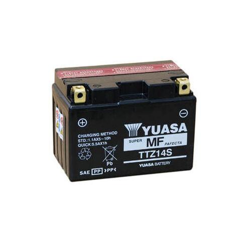 Yuasa TTZ14S-BS 12V 11,2Ah gondozásmentes AGM (zselés) motor akkumulátor