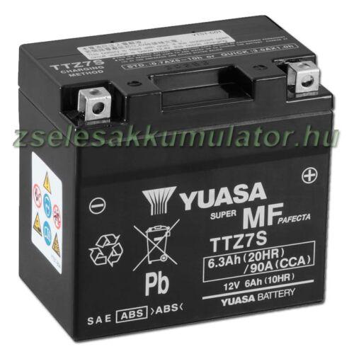 Yuasa TTZ7S-BS 12V 6Ah gondozásmentes AGM (zselés) motor akkumulátor