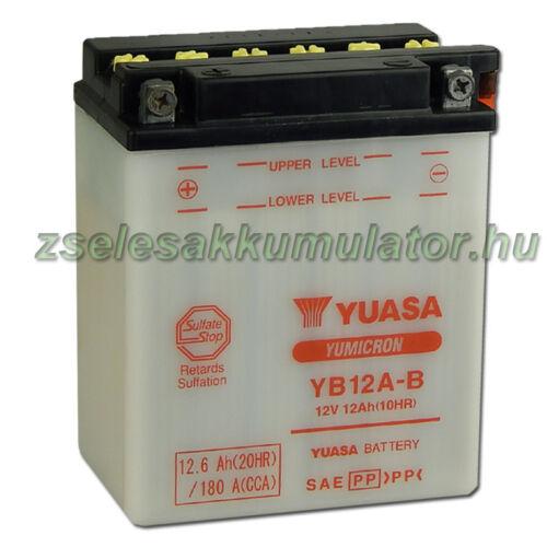 Yuasa YB12A-B 12V 12Ah Motor akkumulátor
