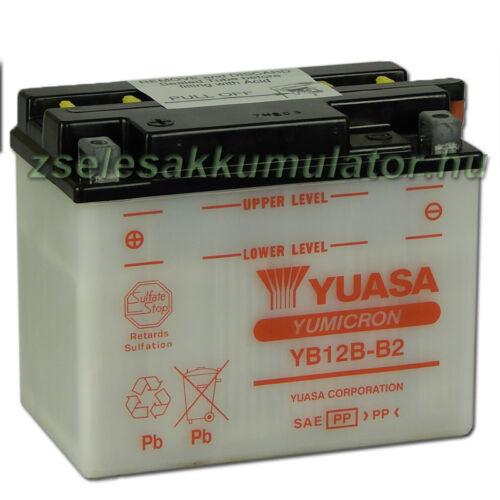 Yuasa YB12B-B2 12V 12Ah Motor akkumulátor sav nélkül