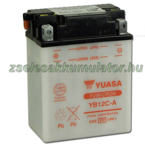 Yuasa YB12C-A 12V 12Ah Motor akkumulátor