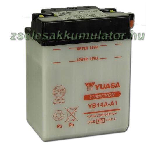 Yuasa YB14A-A1 12V 14Ah Motor akkumulátor sav nélkül