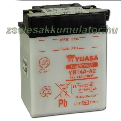 Yuasa YB14A-A2 12V 14Ah Motor akkumulátor