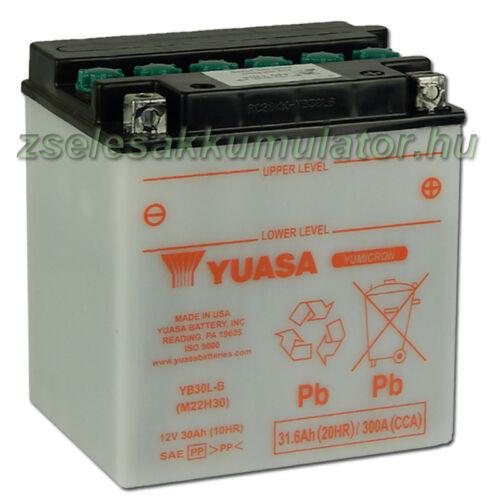 Yuasa YB30L-B 12V 30Ah Motor akkumulátor