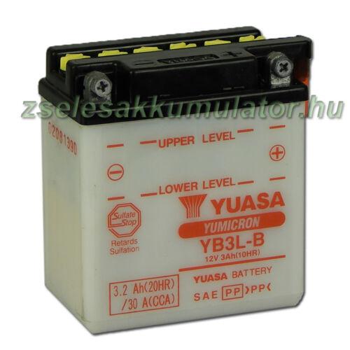 Yuasa YB3L-B 12V 3Ah Motor akkumulátor