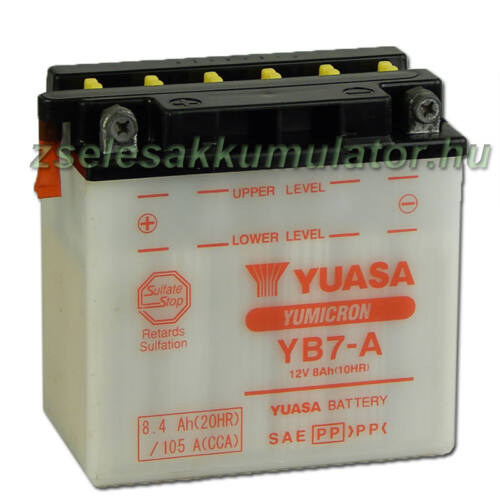 Yuasa YB7-A 12V 8Ah Motor akkumulátor sav nélkül