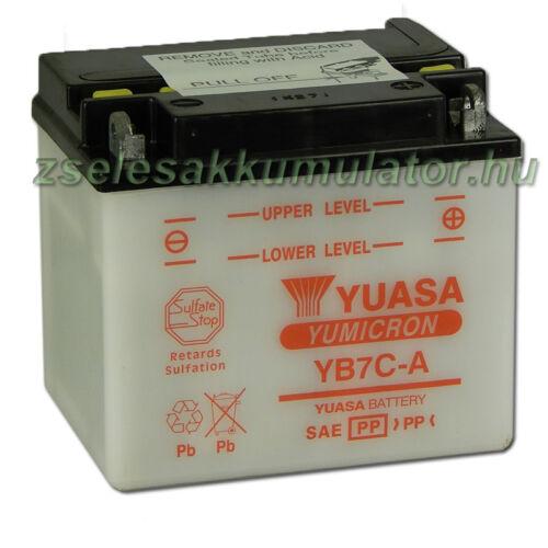 Yuasa YB7-CA 12V 8Ah Motor akkumulátor