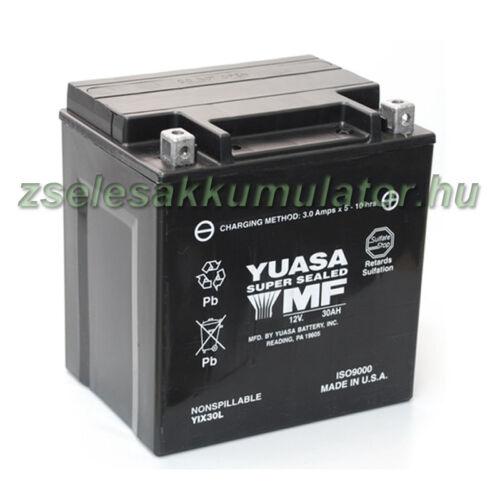 Yuasa YIX30L 12V 30Ah gondozásmentes AGM (zselés) motor akkumulátor