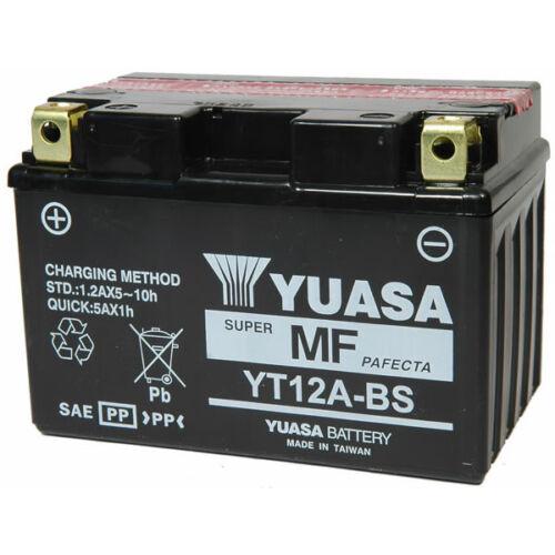 Yuasa YT12A-BS 12V 9,5Ah gondozásmentes AGM (zselés) motor akkumulátor