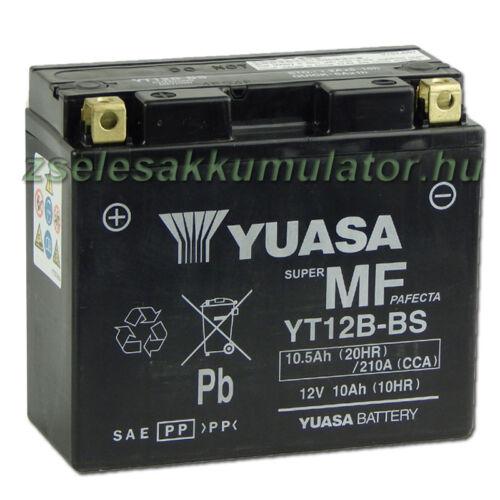 Yuasa YT12B-BS 12V 10Ah gondozásmentes AGM (zselés) motor akkumulátor