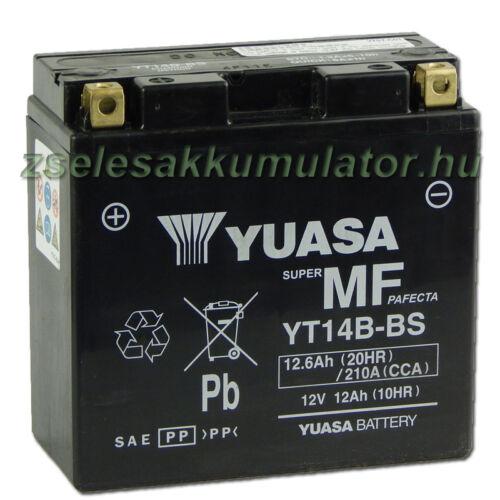 Yuasa YT14B-BS 12V 12Ah gondozásmentes AGM (zselés) motor akkumulátor