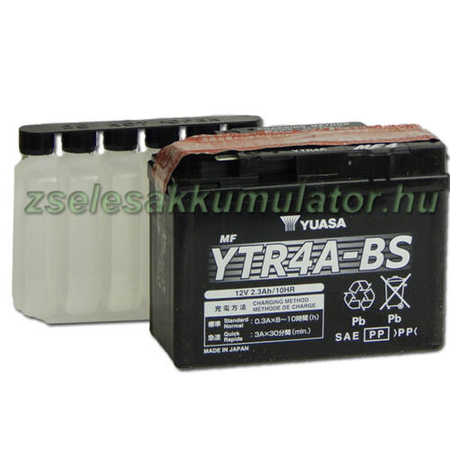 Yuasa YTR4A-BS 12V 2,3Ah gondozásmentes AGM (zselés) motor akkumulátor
