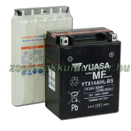 Yuasa YTX14AHL-BS 12V 12Ah gondozásmentes AGM (zselés) motor akkumulátor