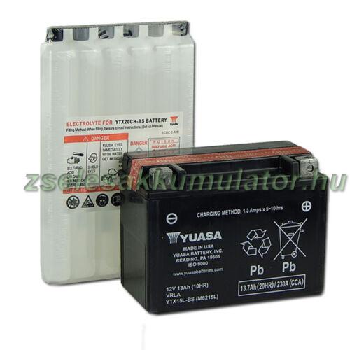 Yuasa YTX15L-BS 12V 13Ah gondozásmentes AGM (zselés) motor akkumulátor