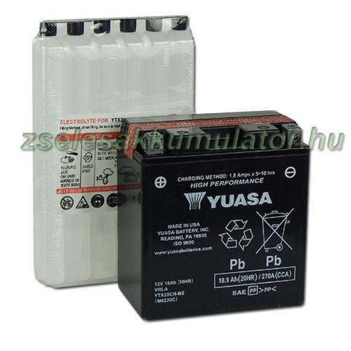 Yuasa YTX20CH-BS 12V 18Ah gondozásmentes AGM (zselés) motor akkumulátor