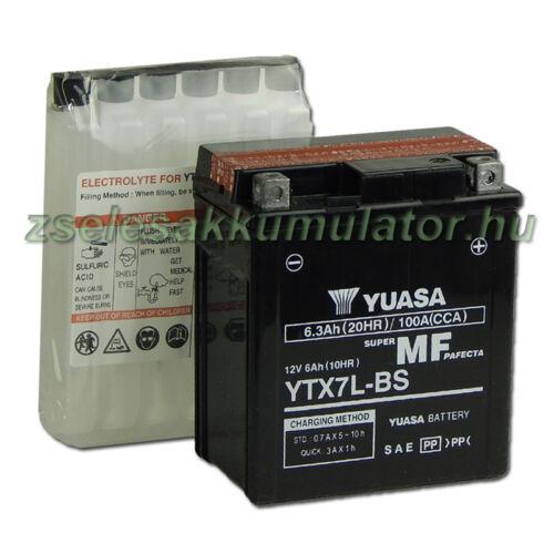 Yuasa YTX7L-BS 12V 6Ah gondozásmentes AGM (zselés) motor akkumulátor
