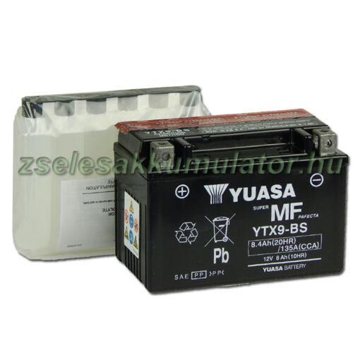 Yuasa YTX9-BS 12V 8Ah gondozásmentes AGM (zselés) motor akkumulátor