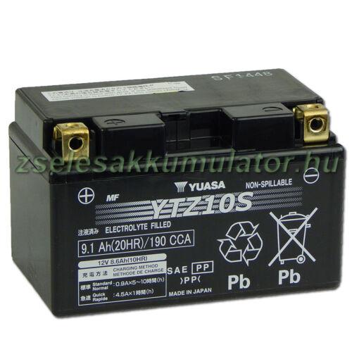 Yuasa YTZ10S 12V 8,6Ah gondozásmentes AGM (zselés) motor akkumulátor