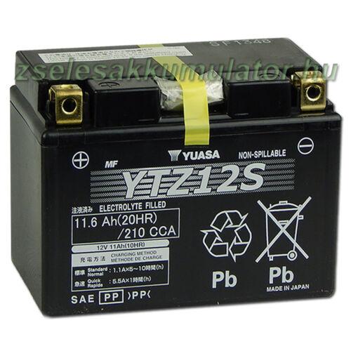 Yuasa YTZ12S 12V 11Ah gondozásmentes AGM (zselés) motor akkumulátor