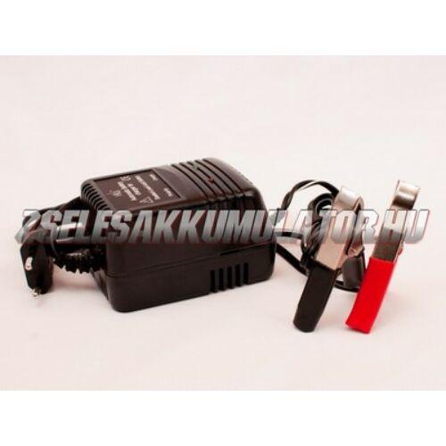 Zselés akkumulátor töltő 2-6-12V 600 mA töltőáram