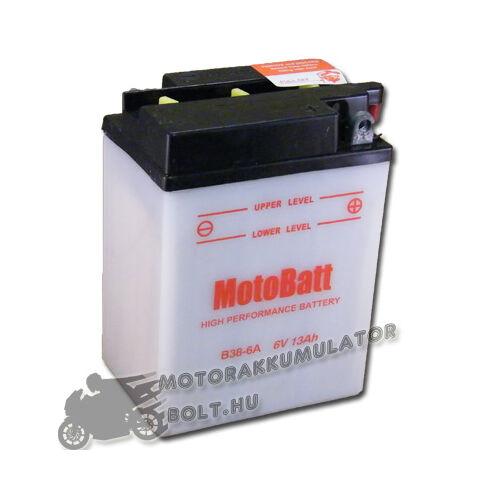 MotoBatt B38-6A 6V 13Ah Motor akkumulátor