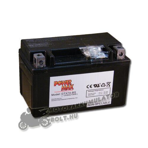 Power Max GTX7A-BS 12V 7Ah Motor akkumulátor