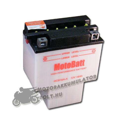 MotoBatt HCB16A-A 12V 16Ah Motor akkumulátor sav nélkül