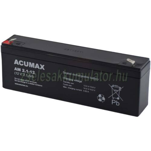 Acumax 12V 2,1Ah Zselés akkumulátor AM2.1-12