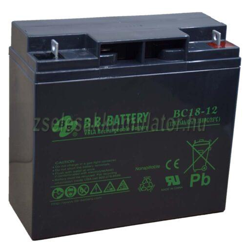 BB Battery 12V 18Ah zselés akkumulátor
