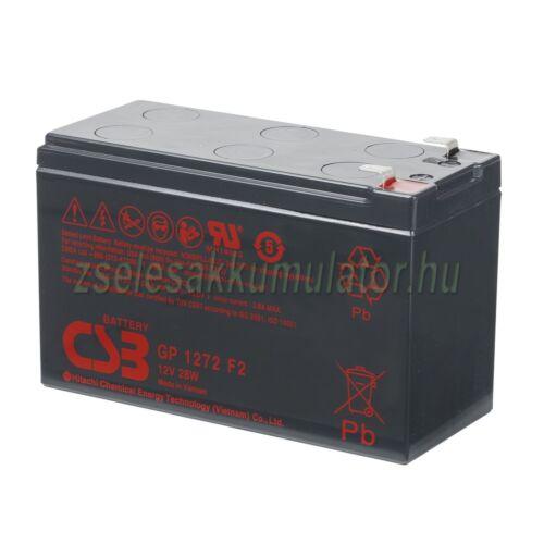 CSB 12V 7,2Ah Zselés akkumulátor GP1272F2 28W