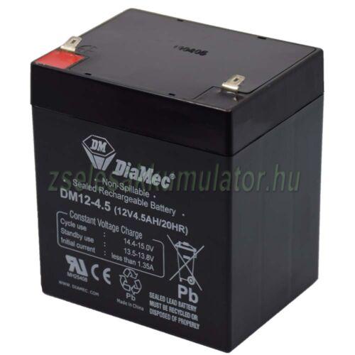 Diamec 12V 4,5Ah DM12-4.5 Zselés akkumulátor